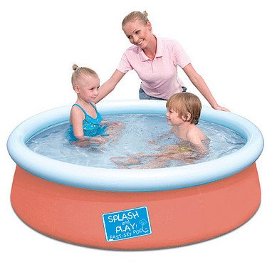 Bestway 57241 - Splash and Play Pool, Schnellaufbau (Quick-Up), orange