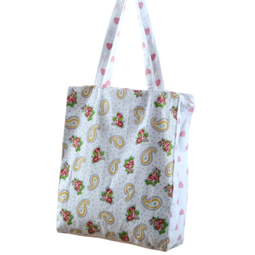 homescapes-pink-white-large-designer-tote-bag-with-zip-internal-pockets-paisley-hearts-design-cotton