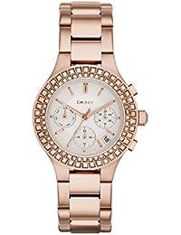 DKNY NY2261 - Reloj para mujeres, correa de acero inoxidable color oro rosa
