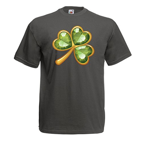 Männer T-Shirt Irish shamrock St Patricks day clothing (XX-Large Graphit Mehrfarben) (Fight Club Soap Kostüm)
