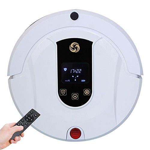 MIAO@LONG Robot Aspirador Casa Alta Succión Con Autocargador Y Detección De Gotas Aspiradora Para El Pelo De Pelo De Mascota, Piso Duro Y Alfombra Baja Blanco