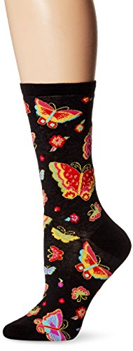 k-bell-calzini-con-motivo-di-laurel-burch-flying-colors-colore-nero
