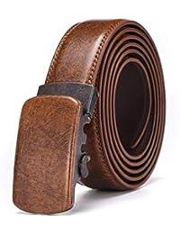 Laisla fashion Cinturón De Cuero Cinturones Hombres Sin Agujeros Cinturón  Cher Clásico Con Caja De Regalo 008c6be4a1e7
