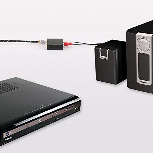 Portta Audio Converter Optical SPDIF Toslink Coax Coaxial zu RCA RL Analog Preimum Konverter Unterstützung 3.5mm Jack 24-bit 192kHz DAC - 6