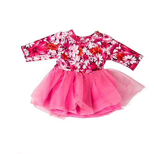 LCLrute Baby Born Puppe Rosa Kleid Kleidung für 18 Zoll American Girl Puppe Kleid Dropshipping (Hot Pink) (Spiel-sets Für American Girl-puppen)