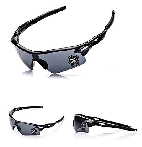 FLYOU Sport Radsport Sonnenbrille für Damen & Herren,Skifahren Golf Schutzbrillen,5 Farben (Grau, Gold, Gelb, Rot, Blau)