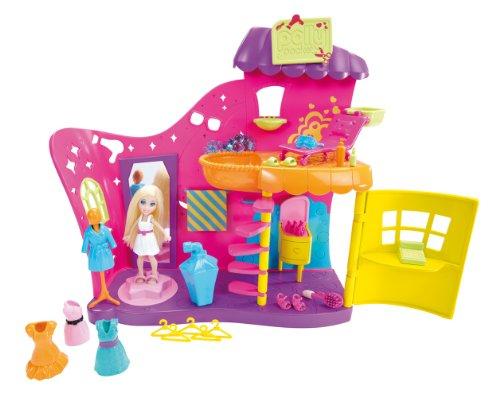 Mattel X1284 - Polly Pocket Farbwechsel Fashion-Salon, inklusive Puppe, Kleidern und viel Zubehör