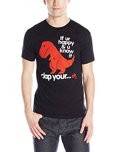 Goodie Two Sleeves Men's Clap Your Oh Sad T-Rex T-Shirt - Medium
