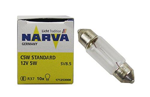 Narva 17125 Glühlampe, Kennzeichenleuchte (Quantität 10)