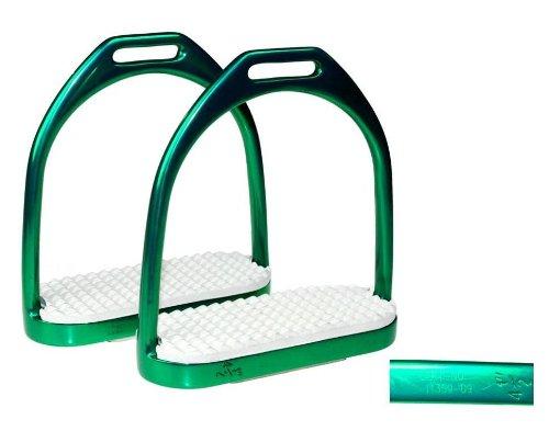 Steigbügel Edelstahl grün mit Zertifikat 11,5 cm ARBO-INOX -