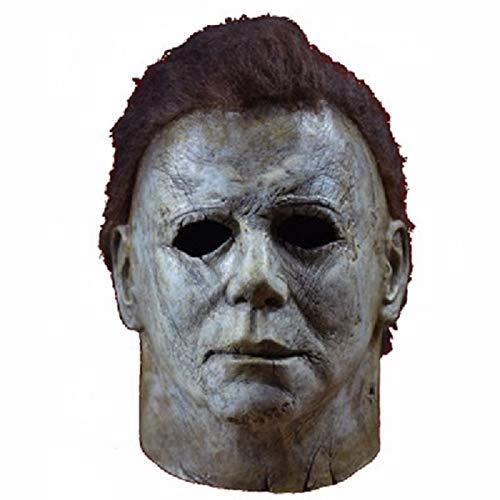 WSCOLL Halloween Horror Michael Myers Maske Cosplay Latex Integralhelm Halloween Party Scary Requisiten Spielzeug Dekoration - Sexy Mumie Für Erwachsenen Kostüm
