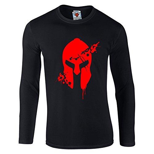 Reality Glitch Herren Bloodied Sparten Long Sleeve T-shirt (Schwarz, ()