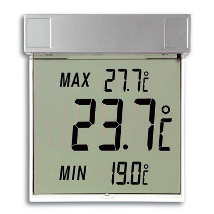 Preisvergleich Produktbild TFA VISIONigitales Fensterthermometer (inkl Batterie) silber 301025
