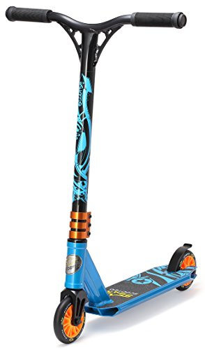 STAR-SCOOTER Freestyle Jump Stuntscooter, Aluminium, blau, SC-110-SJ-MI