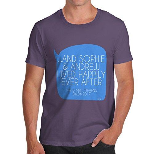 TWISTED ENVY  Herren T-Shirt Pflaume