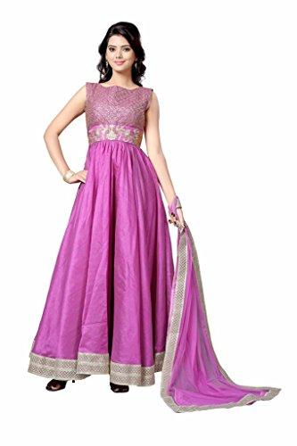 Styles closet women Purple Dhupian Long Anarkali Suit