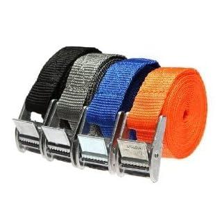 ArturoLudwig 4pcs Koffergurt mit Metallschnalle - Für Koffer und Taschen, Einfache Lösung zur Verbesserung der Sicherheit - 250cm by
