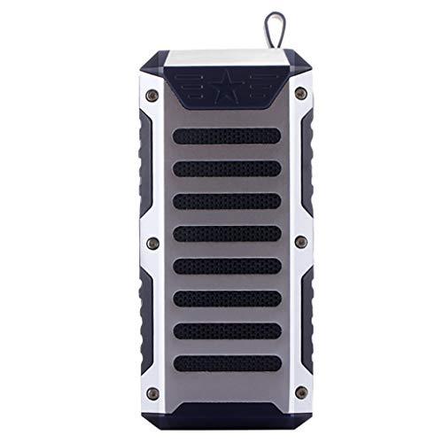 HLHN T9 Außenreit Wireless Mini Bluetooth Lautsprecher, Bass Stereo Sound Taschenlampe Card Player, Wragbare und wasserdichte Soundbox Mit 10m Reichweite (Blau) -