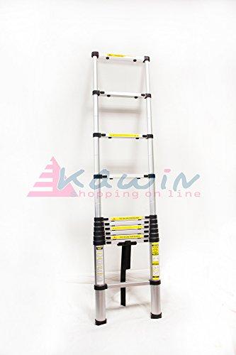 Preisvergleich Produktbild Leiter Leiter Teleskop Aluminium Stufen ausziehbar Mehrzweck 3,20 M