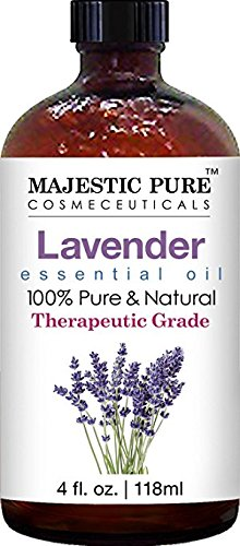 Majestic Pure Lavender Essential Oil, Therapeutic Grade, 4 fl. Oz by Majestic Pure