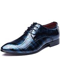 HYLFF Scarpe da Uomo Scarpe Derby in Pelle Moda Scarpe Stringate Eleganti da  Lavoro in Pelle 8dda6c278e0