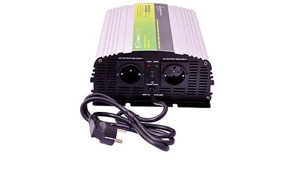 solartronics Spannungswandler USV 12V NPS 2000//4000 Watt Reiner Sinus UPS Inverter