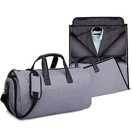 PUDDINGHH® Anzugtasche, 2-in-1-Kleidersack, Kleidersack, Reise-Duffelsack-Anzüge, Abnehmbarer Schultergurt und Schuhbeutel - extra große Kapazität,Gray