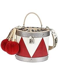 Dolce E Gabbana Mujer BB6334AG7218V434 Blanco/Rojo Cuero Bolso De Mano