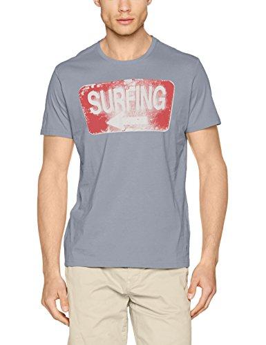 s.Oliver Herren T-Shirt 13706324869 Blau (Cool Fog 5212)
