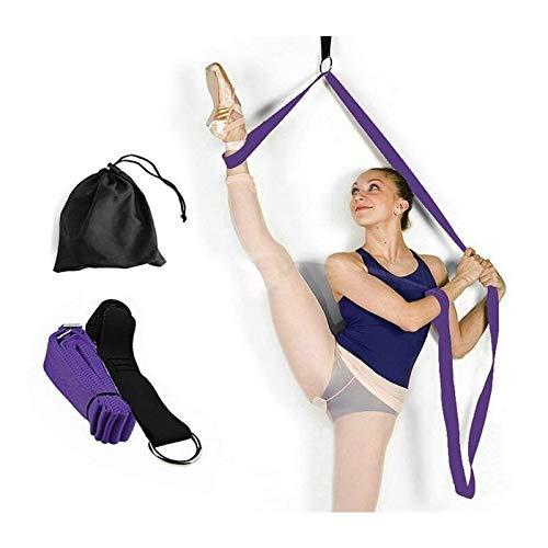 Super Stretch Band (Speedmar UK Umweltfreundliches Material Türbeine Bahre, verlängern Ballett-Stretch-Band Super Flexibles Bein-Bahre-Gurt-Stretching-Übungs-Bänder Perfekt für Ballett)