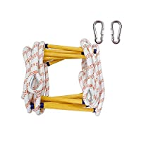 Emergency Escape Soft Ladder- Ladder with Carabiners for Children and Adults Escape from Window and Balcony