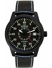 LIV MORRIS 4260195920378 - Reloj para hombres, correa de cuero color negro