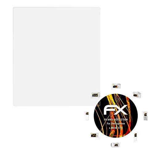 atFoliX Panzerfolie kompatibel mit Swissphone s.Quad X15 Schutzfolie, entspiegelnde und stoßdämpfende FX Folie (3X)
