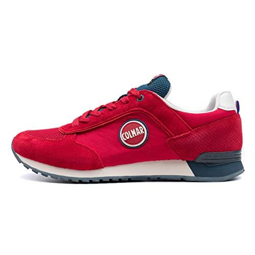 Colmar TRACOL Red Blue Rosso Blu Scarpe Sneakers Uomo Lacci 45