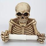 RISHIL WORLD Skull Paper Roll Holder Wall Mount Toilet Bone Dry Skeleton Bathroom Decorations Paper Shelf Holder