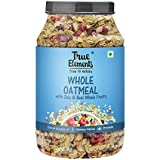 True Elements Whole Oatmeal with Chia and Fruits 1kg - Sugar Free Breakfast Cereals