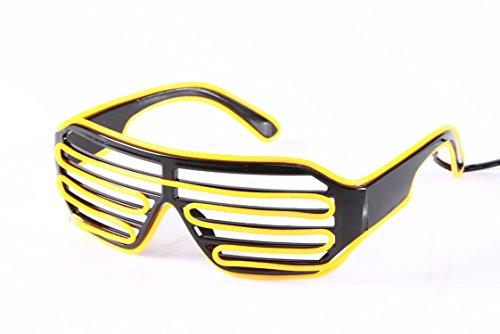 Kleine gelbe unisex fur blinde Sonnenbrille Kostum glanzende elektrische EX