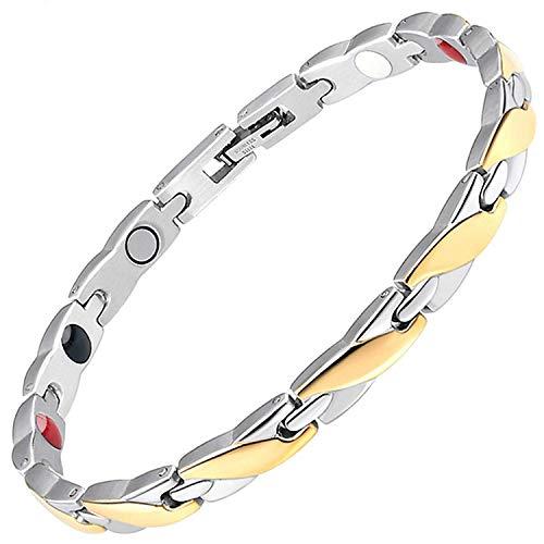 Damen Magnetisch bracelets-all sizes-negative Ion Armband Balance Armband Arthritis Schmerzen bei Karpaltunnelsyndrom Sehnenscheidenentzündung Gemeinsame Handgelenk Gesundheit bracelet-gsps 19 cm / 7.5 in