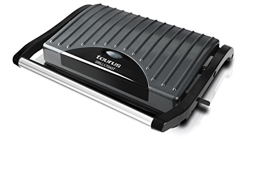 Taurus Grill & Toast Sandwichera  Acero Inoxidable  Color Negro  14.5 cm