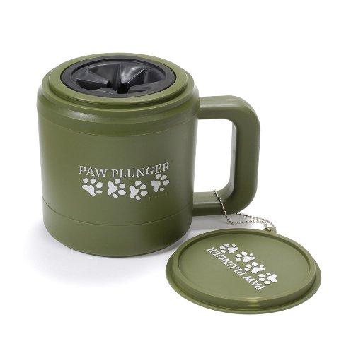 PawPlunger Pfotenreiniger M für Hunde, grün