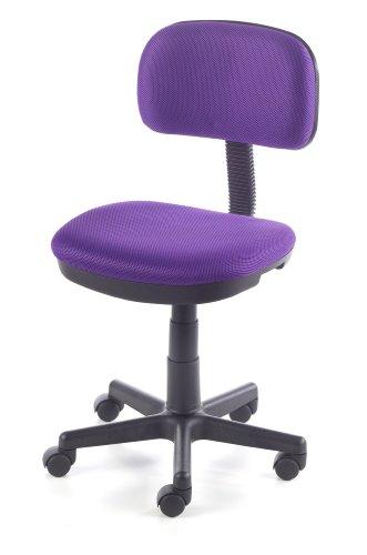 Due-home Silla de escritorio silla infantil malla 3D, color lila