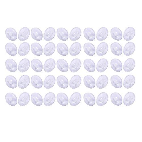 25 Paare Runde Silikon Brillen Push in Nasenpads