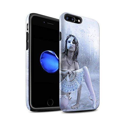 Officiel Elena Dudina Coque / Brillant Robuste Antichoc Etui pour Apple iPhone 8 Plus / Éclaboussure Rouge Design / Un avec la Nature Collection Masque d'Hiver
