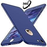 Coque iPhone 6, Coque iPhone 6s Losvick 360 degrés avec [2-Pièces Protecteur D'écran En Verre Trempé] Housse Dur PC 3 en 1 Matte Case Anti Choc pour iPhone 6/6s - 4.7' - Bleu