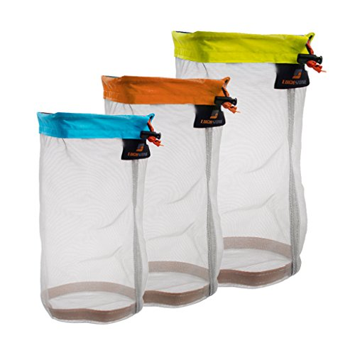 41gVlisQViL. SS500  - Sharplace Ultralight Mesh Stuff Sack Drawstring Bags For Outdoor Camping Hiking - Sky Blue (S), Orange (M), Yellow Green…
