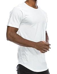 HCFKJ 2018 Style Fashion T-Shirt en Coton des Hommes D'Été Base Ras du Cou Hip Hop Solid Slim à Manches Courtes Blouse Occasionnels O Cou Tops Chemise