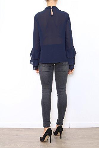 Lyse Damen Langarmshirt, Einfarbig One Size Marineblau