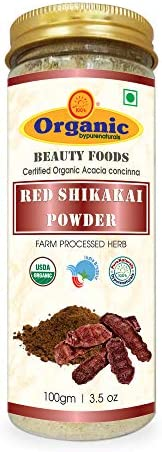 byPurenaturals Organic byPurenaturals Red Shikakai Herb Powder - 100Gm