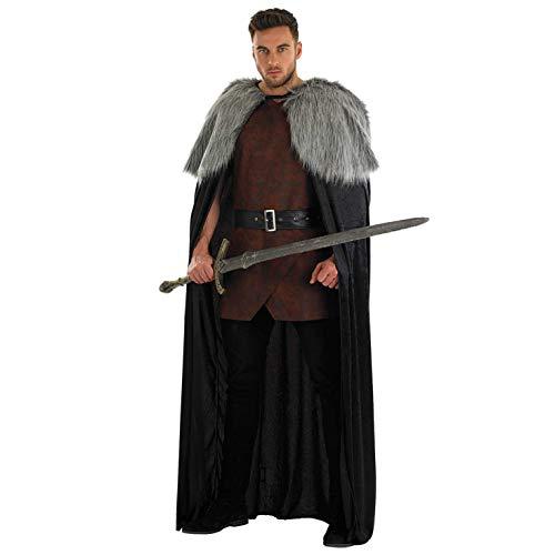 Fun Shack Herren Costume Kostüm Brown Fur Trimmed Cape - Viking Kostüm Männer