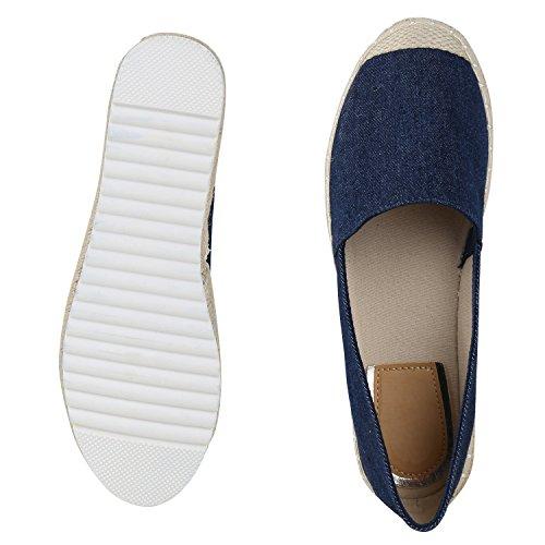 Pantofole Da Donna Metallico Espadrillas Bastonatura Profilo Sole Scarpe Estive Scarpe Denim Stampa Scarpe Fiori Glitter Scarpe Jennika Blu Scuro Beige